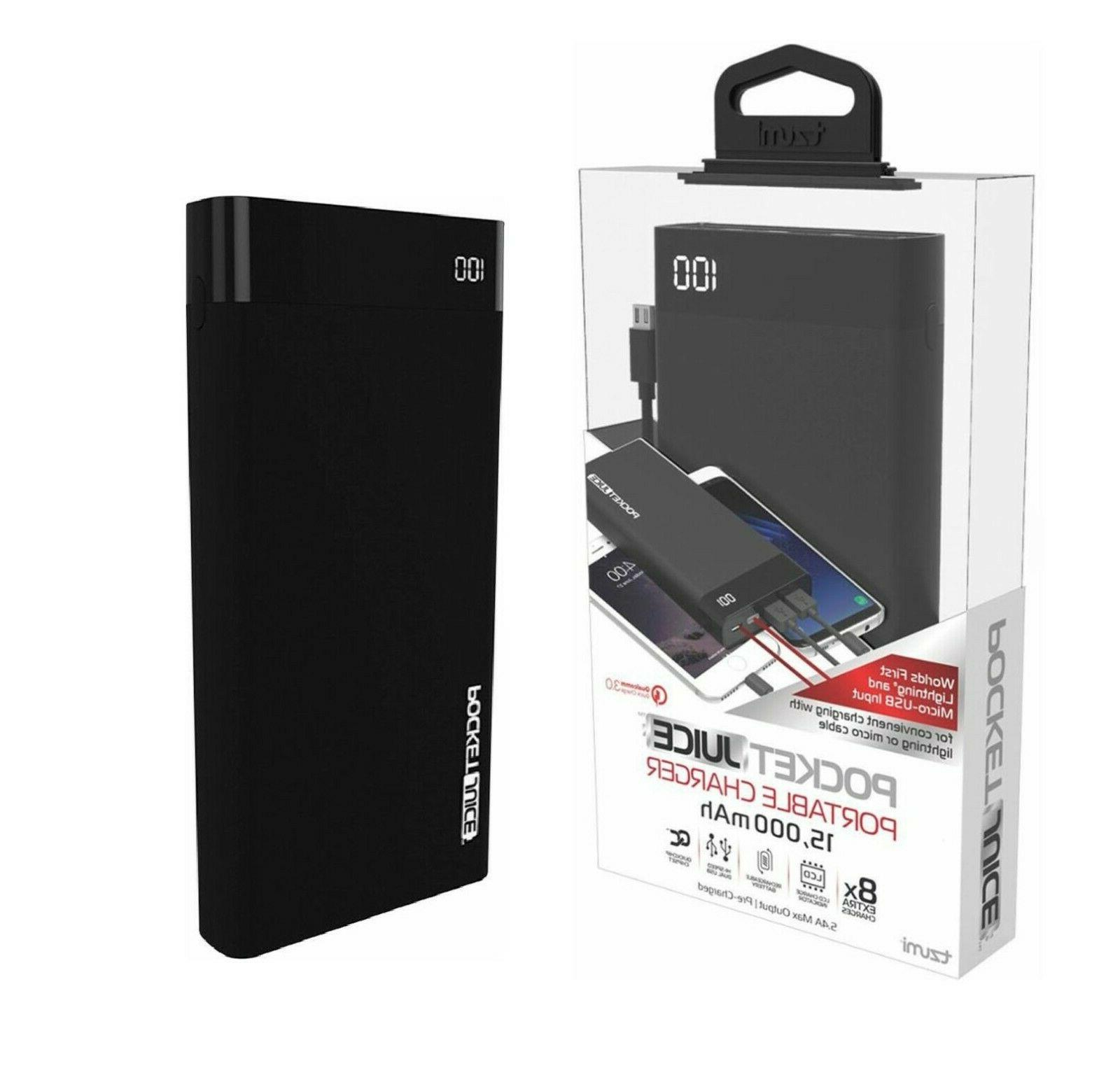15000 mah power bank pocket juice iphone