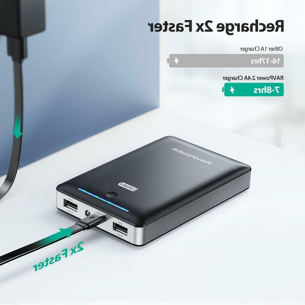 RAVPower 16750mAh 4.5A USB Output Ports Power Bank