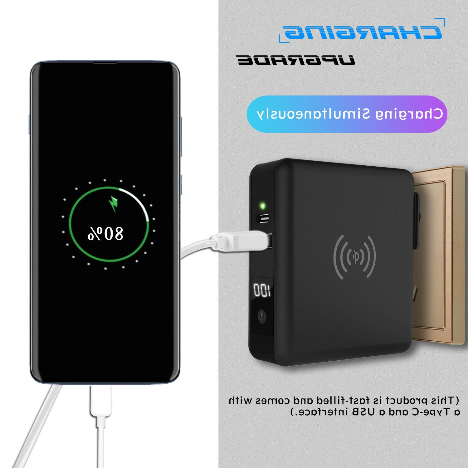 18W USB Qi Wireless Bank Backup Battery Wall Charger