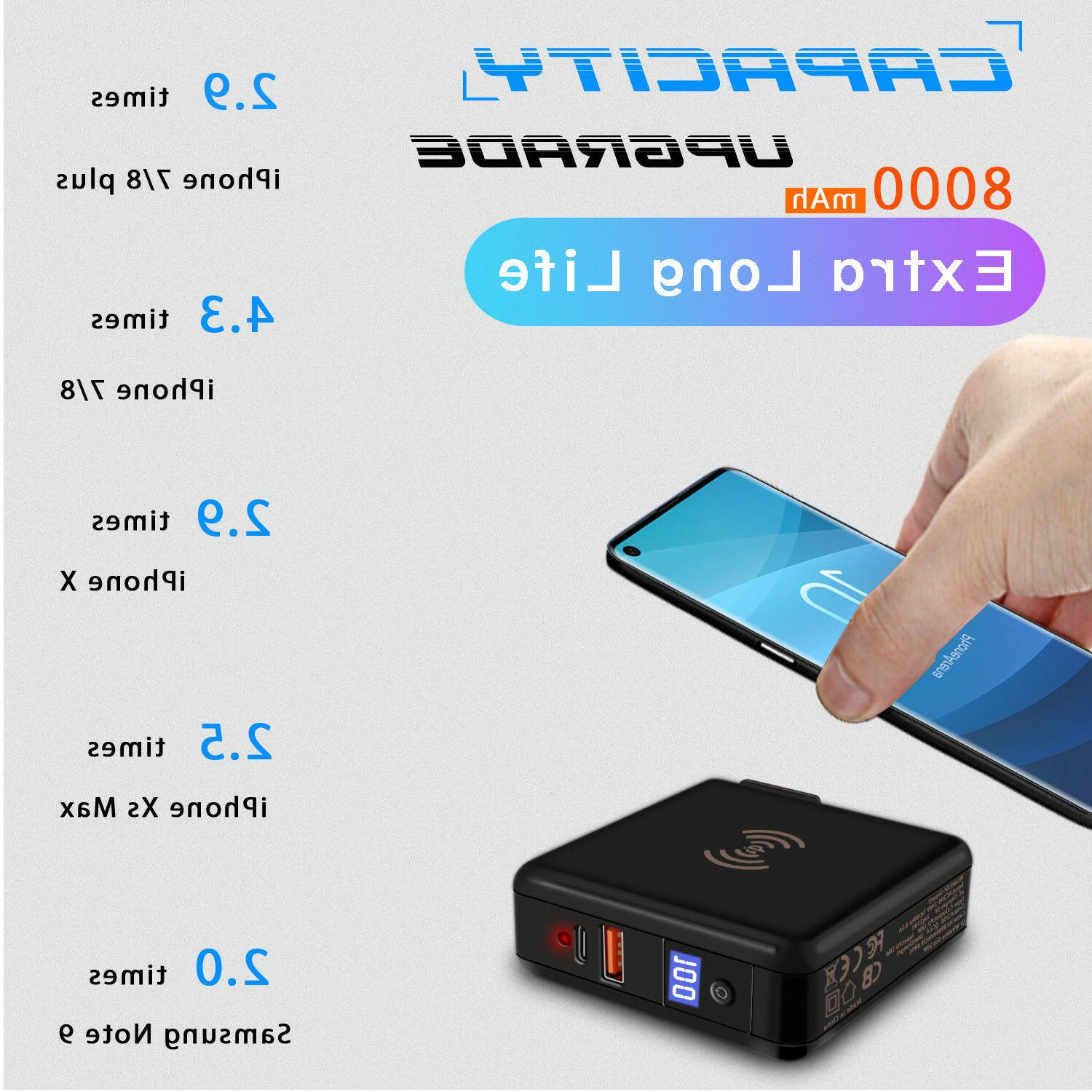 18W USB Qi Wireless Bank Battery Charger
