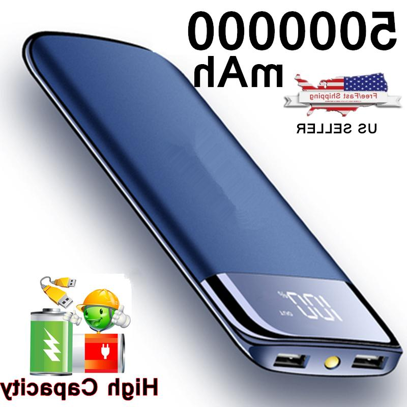 2000000mah portable power bank lcd 2 usb