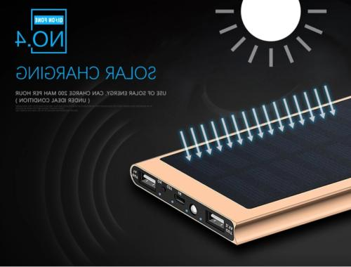 20000mAh 2 Portable Charger Power Bank For