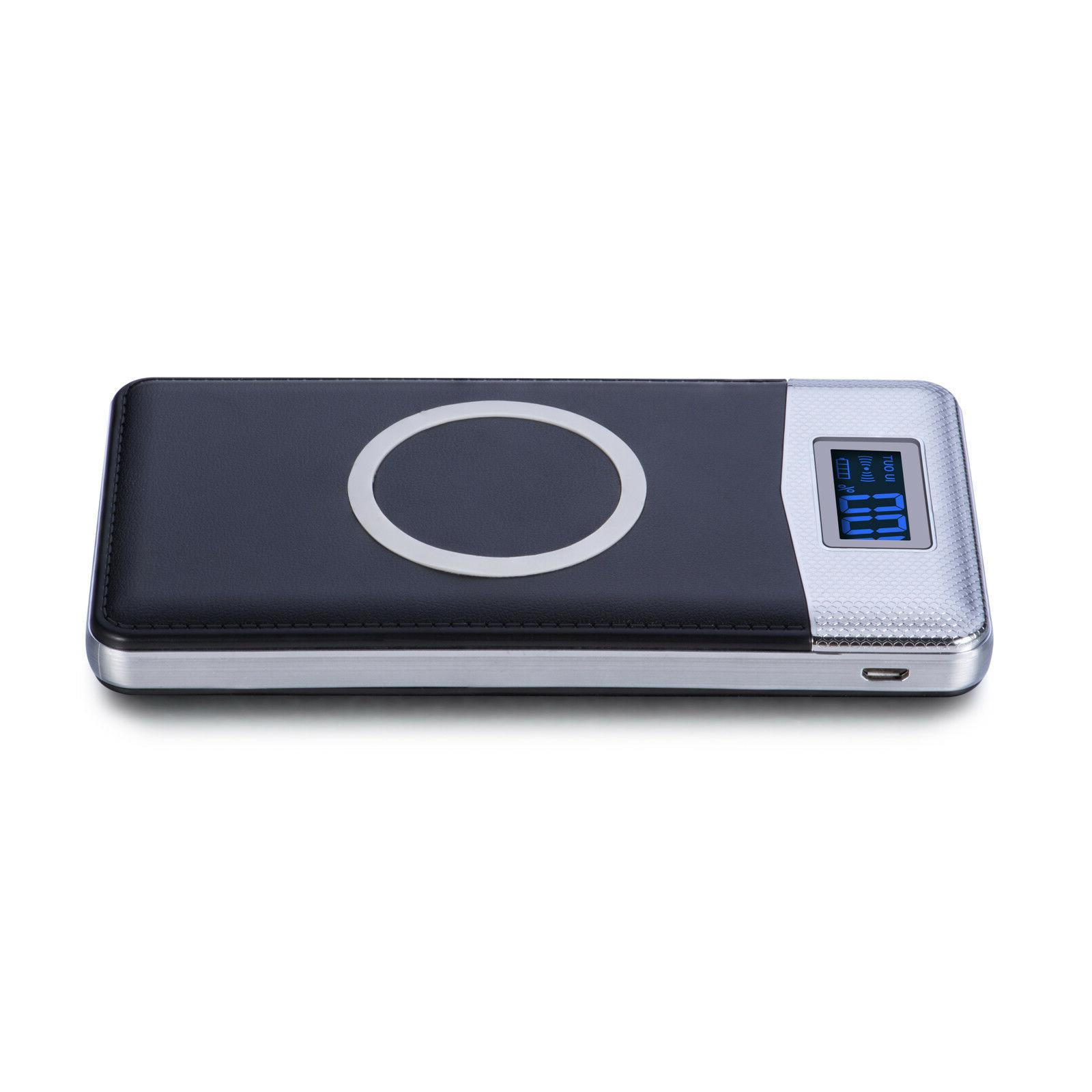 2019 New Qi Wireless Charger 500000mAh LED LCD Battery Pack