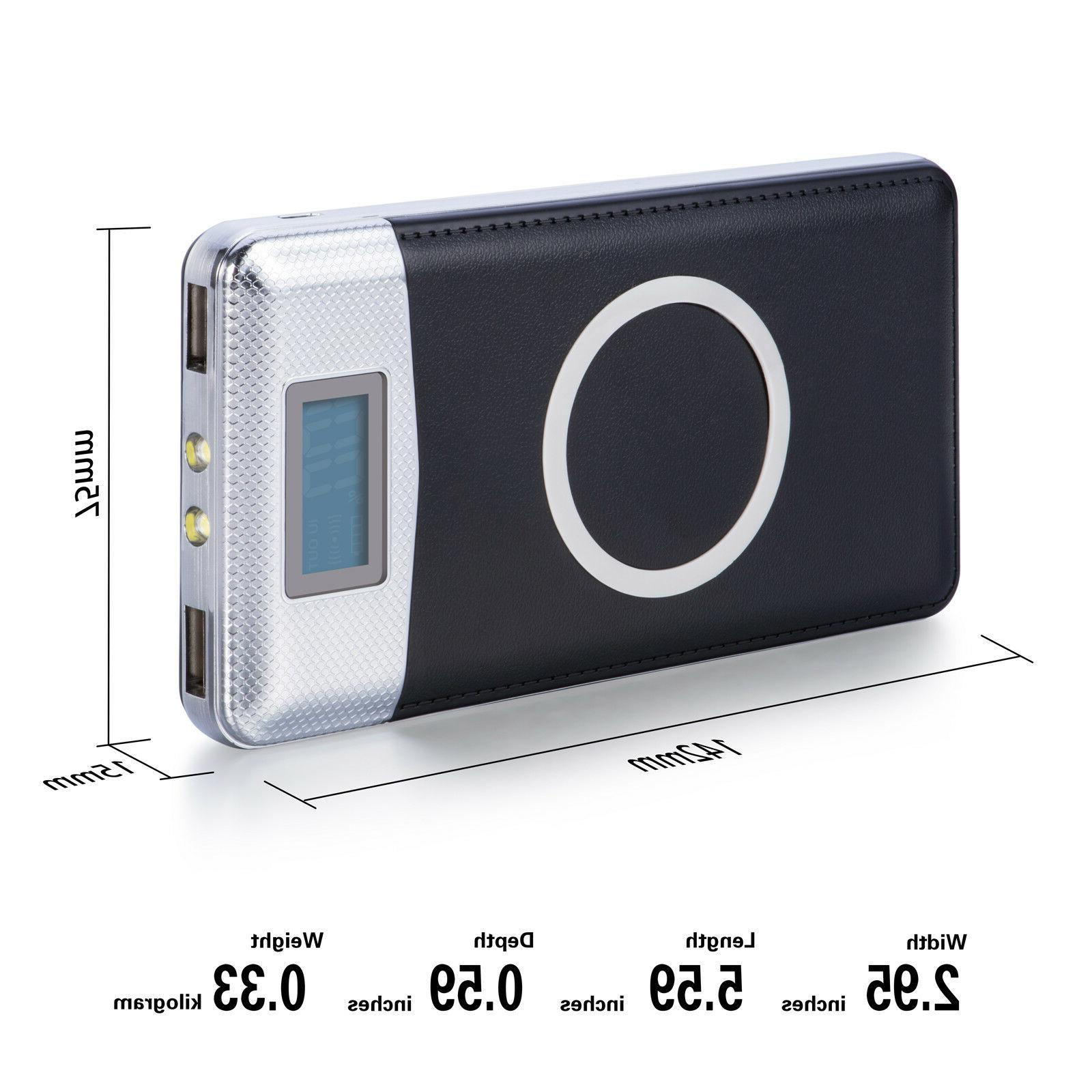 2019 Qi Charger Power Bank LED LCD External Battery