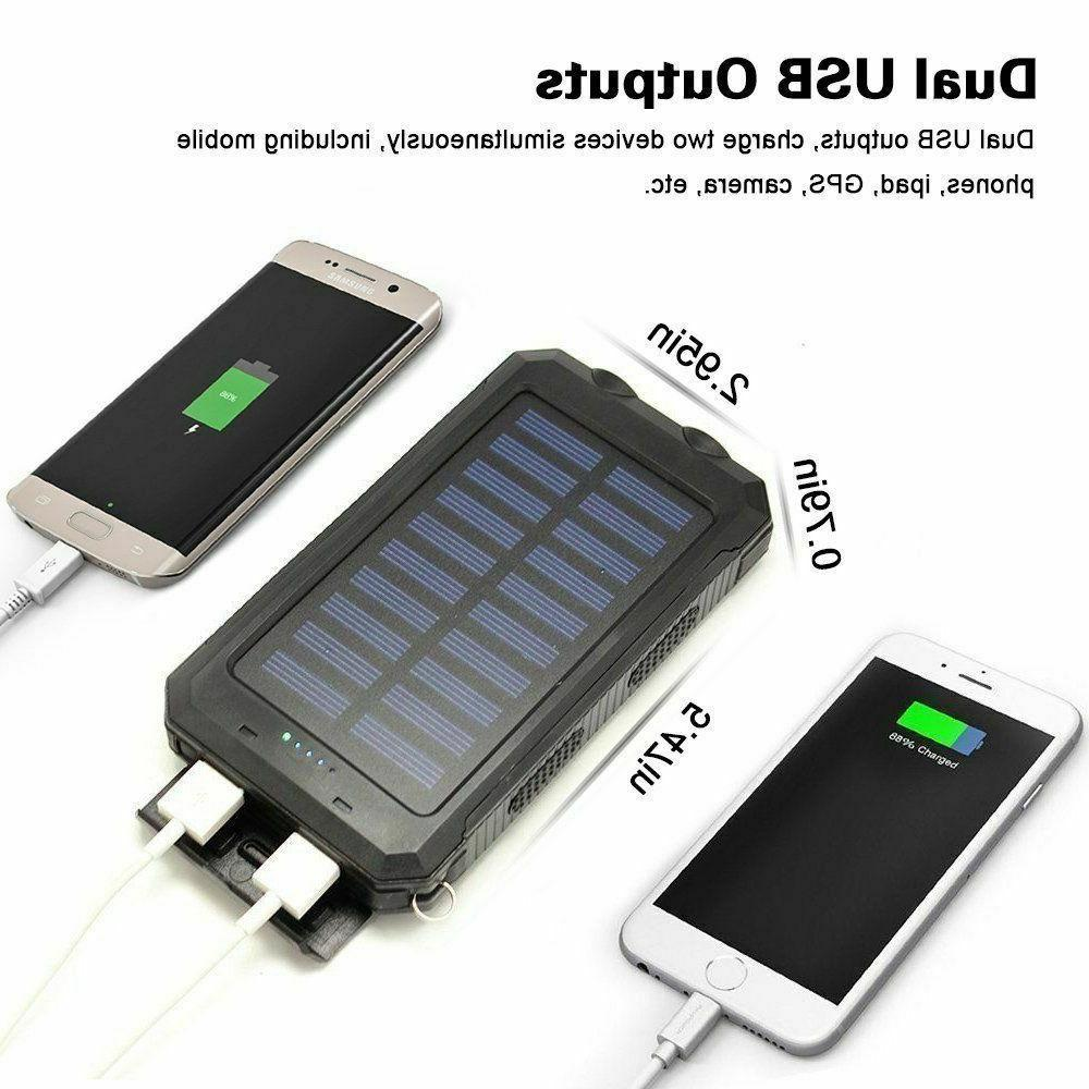 2000000mAh USB Portable Charger Solar Bank Cell Android