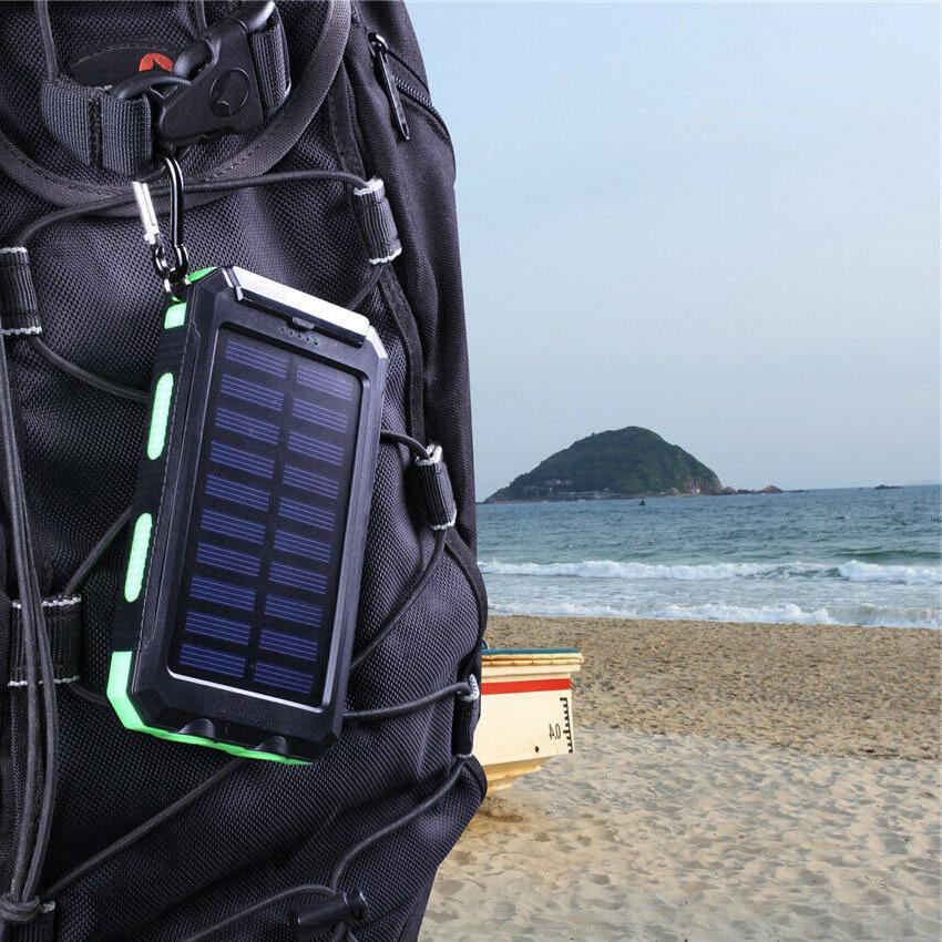 2020 Waterproof Solar Power Bank Battery Charger US