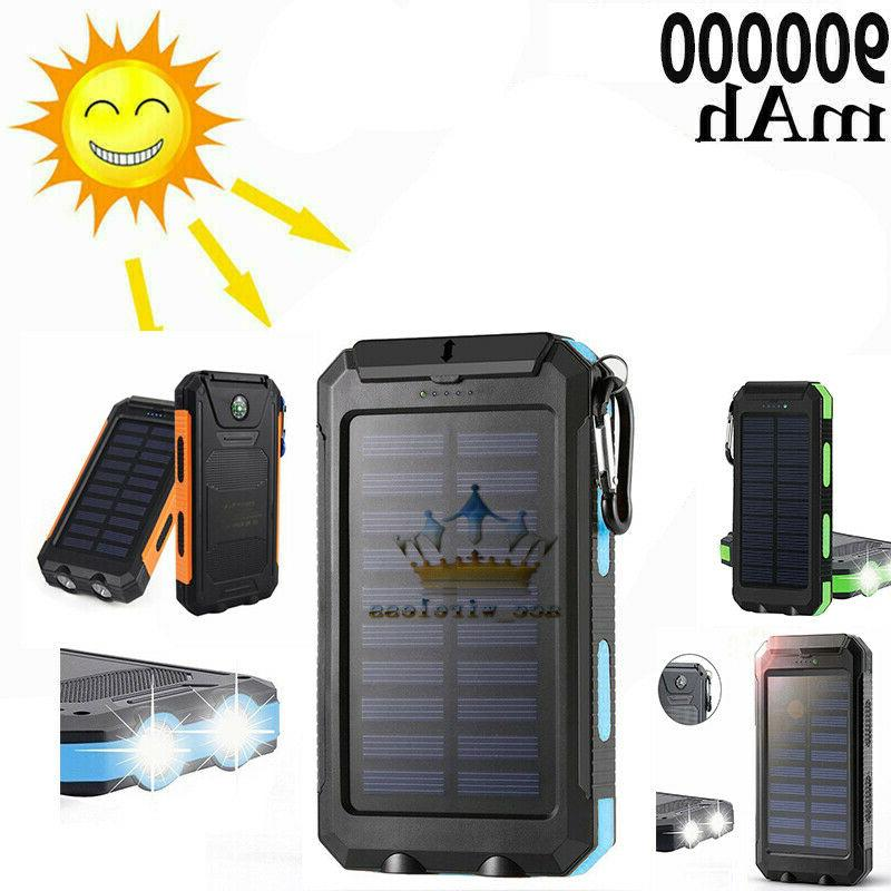 2020 waterproof solar power bank 900000mah portable