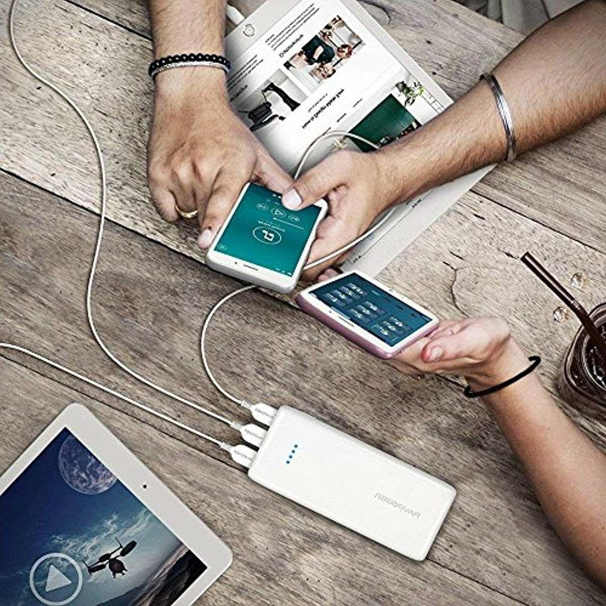 RAVPower Power Bank 3-Port Battery Portable