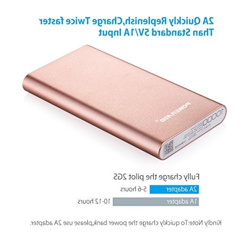 POWERADD Pilot 2GS Charger Pack with Smart Charge for Smartphones and Rose Gold