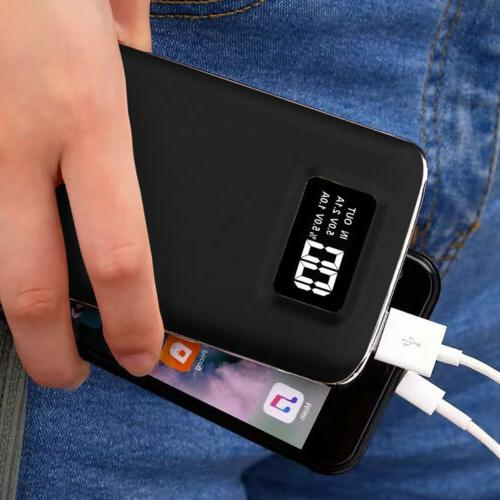 2USB 50000mAh Battery Pack LCD Power Bank LED Portable Charg