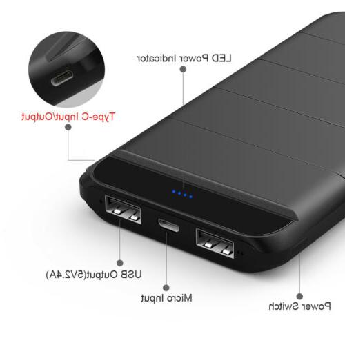 300000mAh Portable Bank Battery Charger Dual LED for Phone