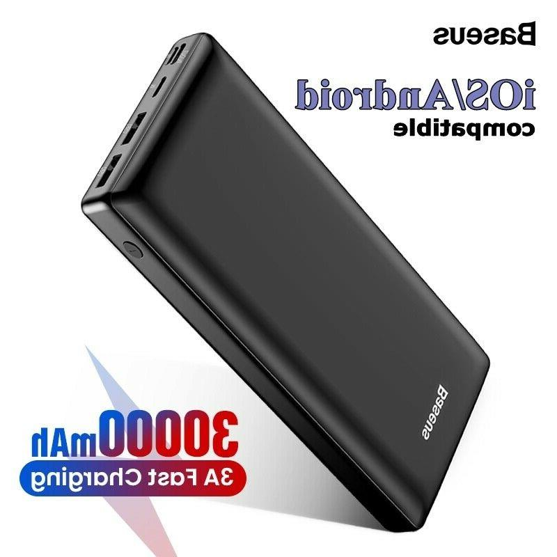 30000mah power bank for iphone samsung xiaomi