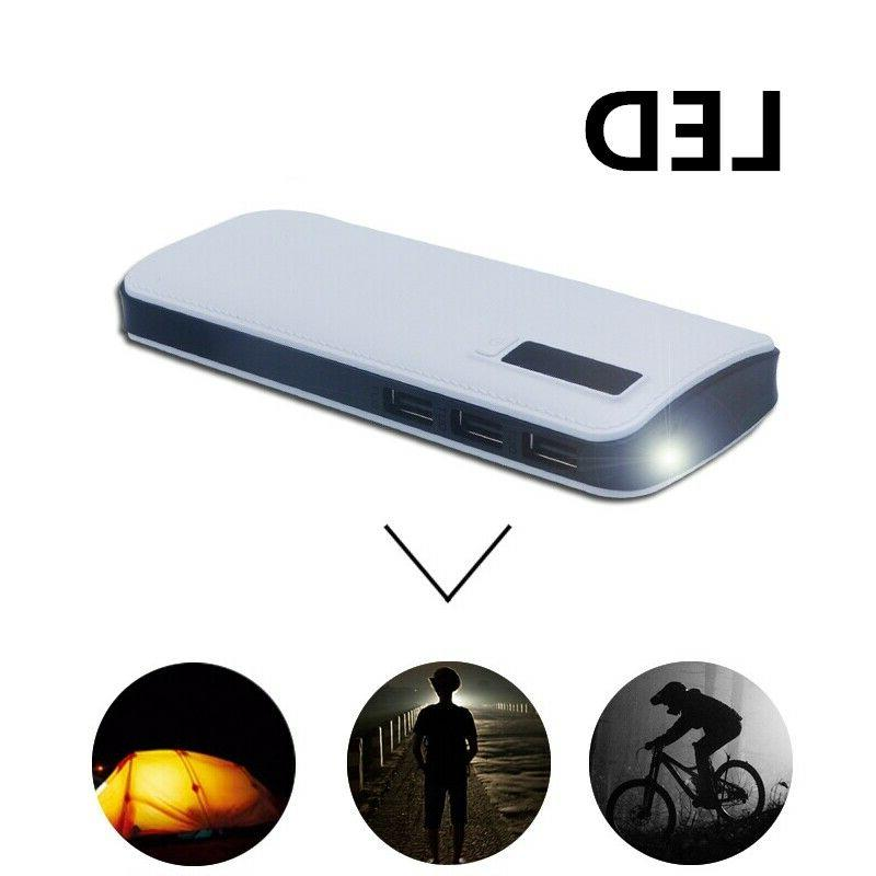 900000mAh Portable Power Bank 3 USB LED Fast External Backup Pack