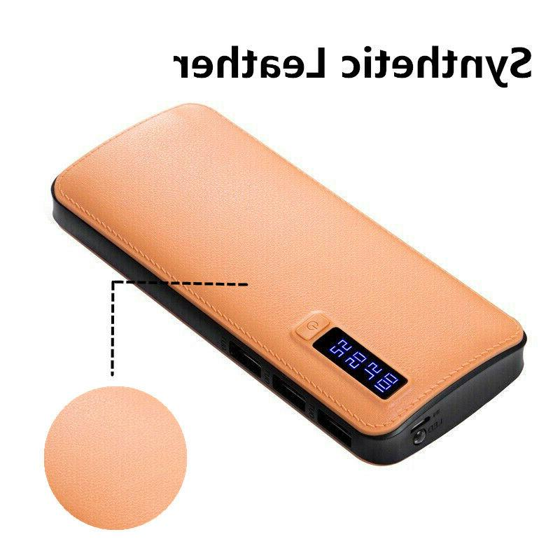 900000mAh Portable 3 USB LED External Pack