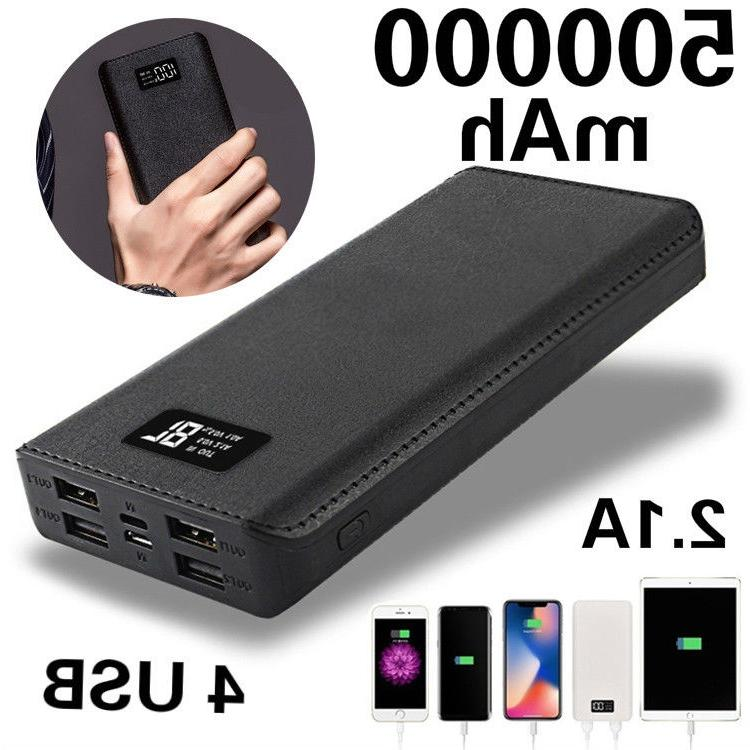 4 usb charger lcd digital mobile power
