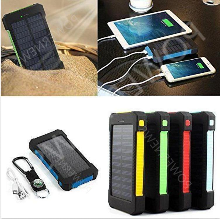 500000mah dual usb portable solar battery charger