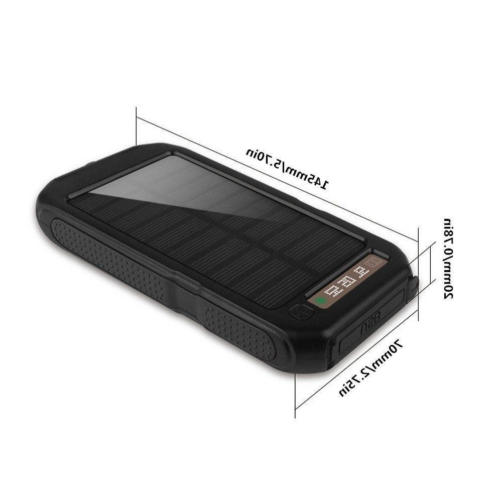 POWERNEWS Dual USB Waterproof Solar Charger Solar Power