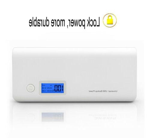 50000mAh Dual USB External Power Bank LCD LED Charger Phone US