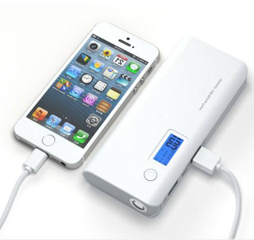 50000mAh Dual USB External Power Bank Portable LCD LED Charg