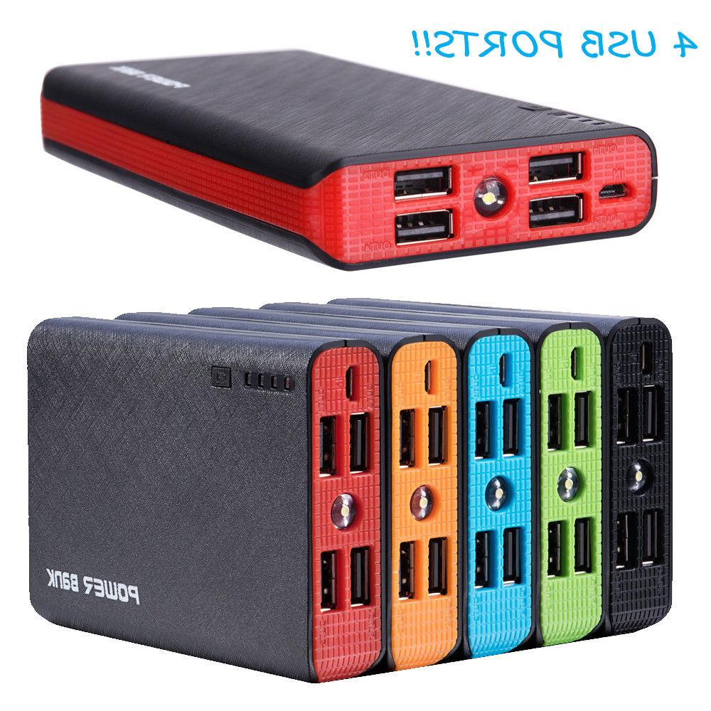 900000mah 4 usb external power bank portable