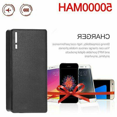 50000mah external power bank backup led dual