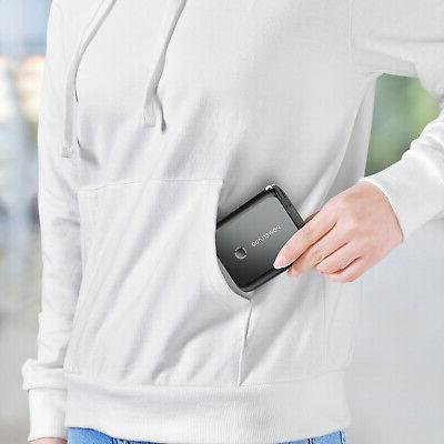 Portable 5000mAh AC Plug 2 Outlet For Phones