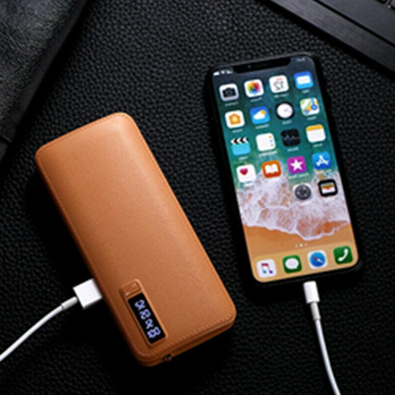 900000mAh Portable Power Bank 3 USB Fast External Battery Phone Pack
