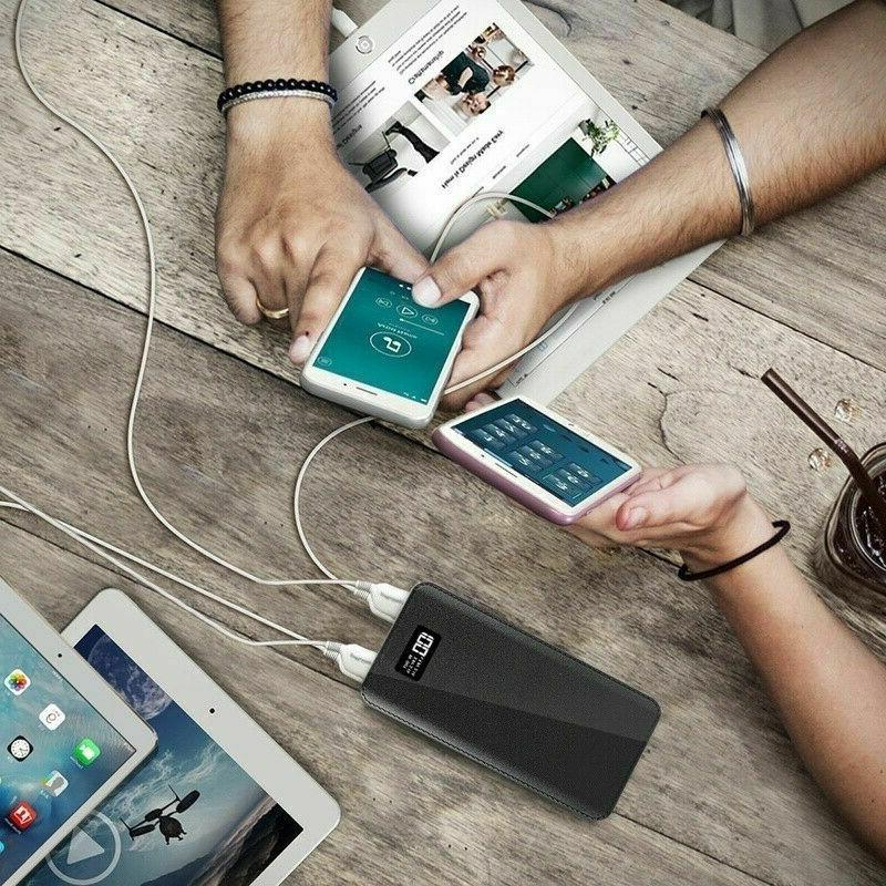 900000mAh 4USB Backup External Pack Charge For Phone