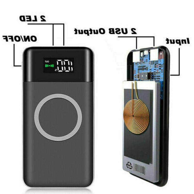 900000mAh Wireless LCD Charger