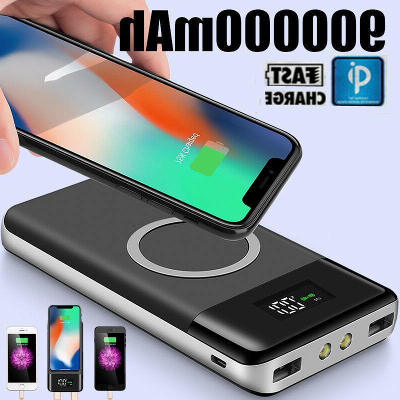 900000mah power bank qi wireless charging 2