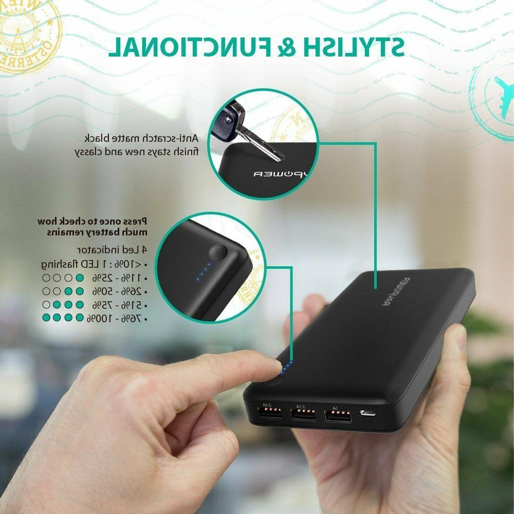 Battery Pack RAVPower Portable Charger Power Bank Wall