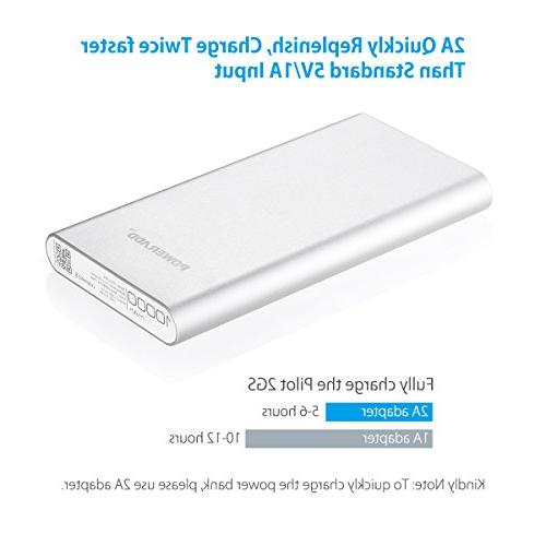 POWERADD 2nd 2GS Dual Portable Charge for iPhone, Tablet- Silver