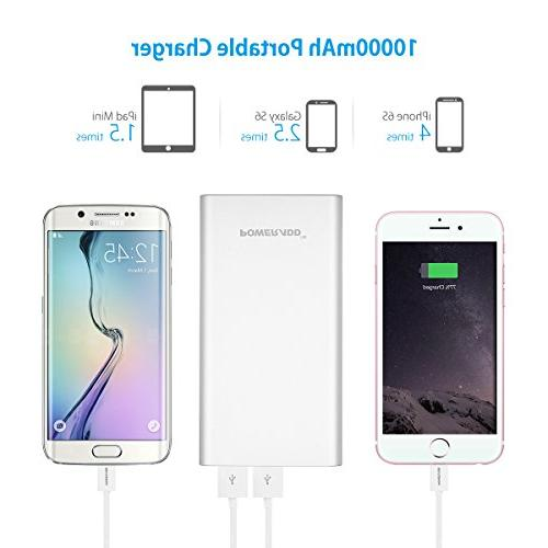 POWERADD 2GS Power Dual Portable with High-Speed Charge for iPhone, Samsung, Phones and Tablet-
