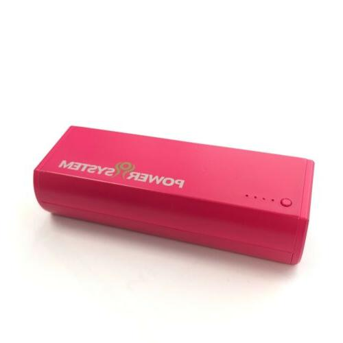 Portable Cell Phone Battery Power Bank 5200mAH with Built-in