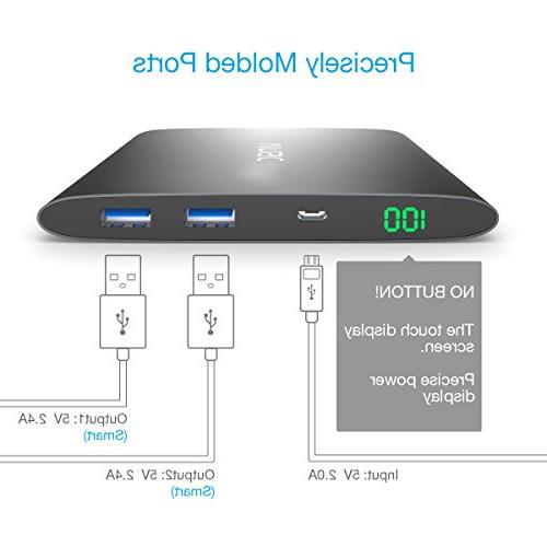 Vinsic 20000mAh Power Bank, for USB Battery Charger for iPhone, Samsung,