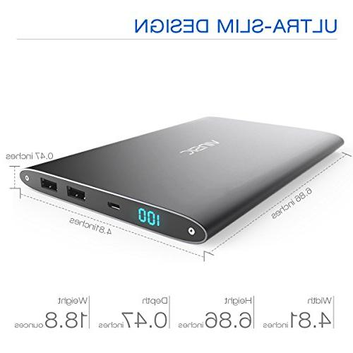 Vinsic 20000mAh Ultra Power for USB Portable Charger iPhone, Samsung, Cell