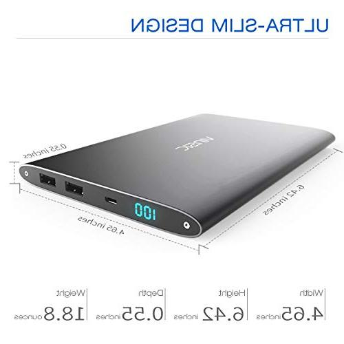Vinsic Power Bank, 10 Times for USB Charger Samsung, Cell Phones.