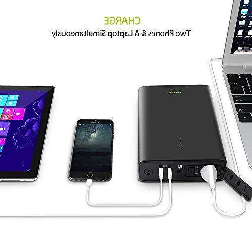 AC Outlet Portable Laptop Charger, AC Bank Battery Pack MacBook Laptops Devices
