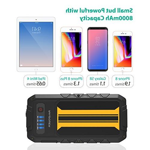 Car 300A Peak Charge Portable Jumper External Battery Pack Power Bank Power Pack Battery Booster,