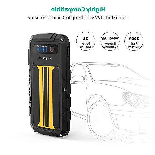 Car 300A Charge Portable Battery Power Pack Battery Flashlight