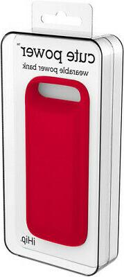 iHip Cute Red Power Bank 2500Mah W/Built in Micro Cord  Red