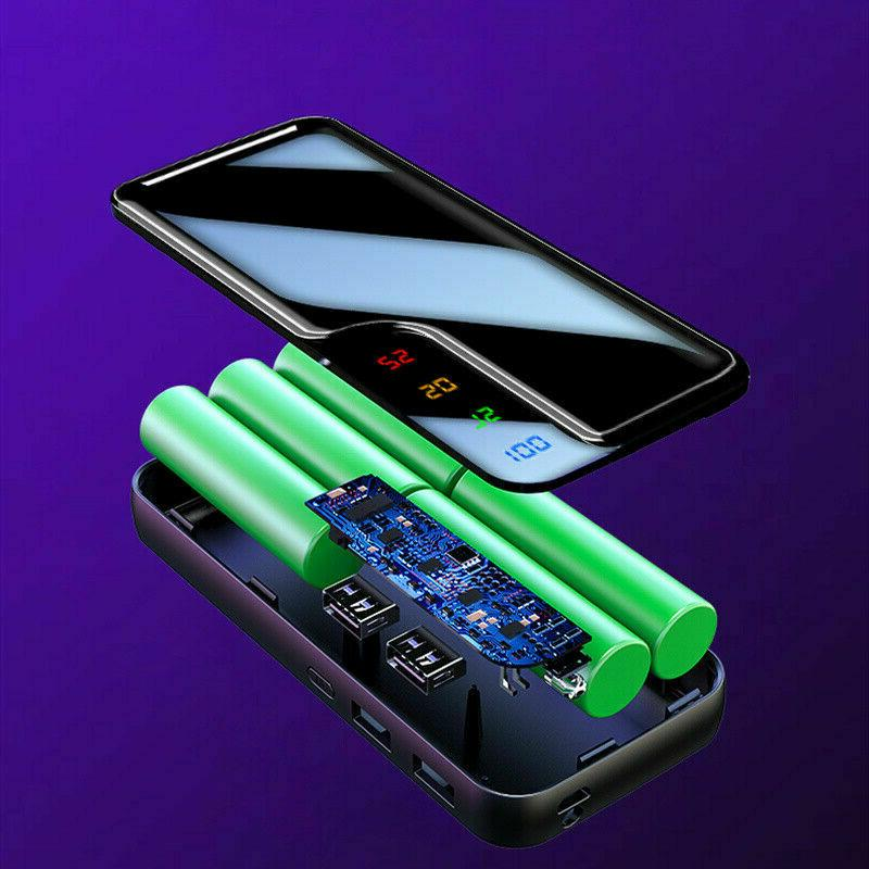 Emergency Power Bank 2USB LCD Battery Charger