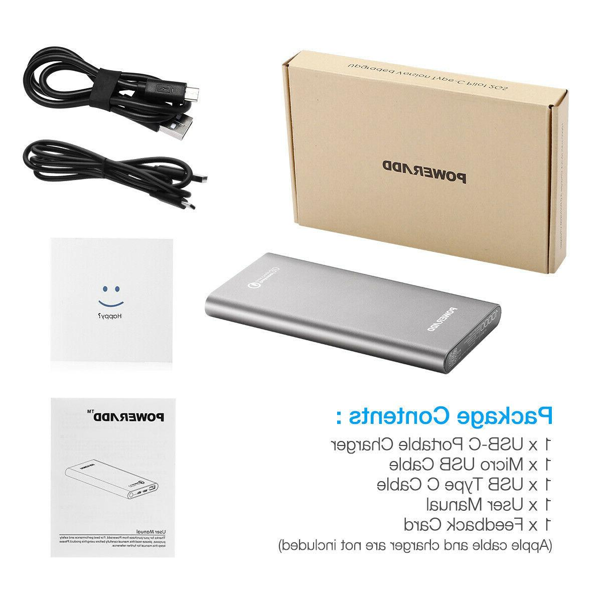 10000mAh Portable Power QC 3.0 Quick Type Charger