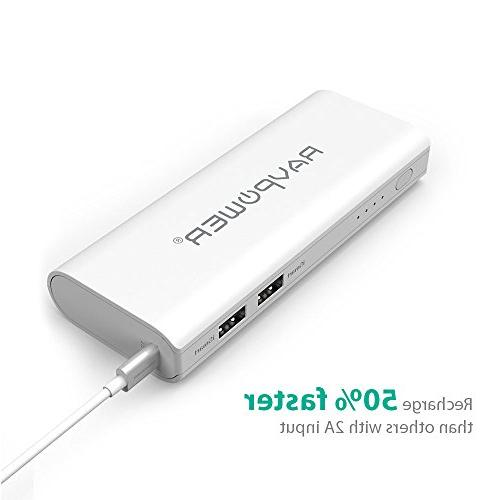 Portable RAVPower 10400mAh External Battery Pack Technology for iPad, Smartphones and Tablets