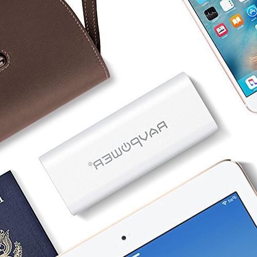 Portable 10400 RAVPower 10400mAh External Battery with iSmart Technology for Smartphones and