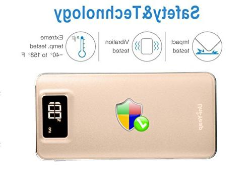 Uni-Yeap 11000mAh External Charger Power with Safety Conversion System and Ultra Screen iPhoneX 7 6s 6, Samsung Galaxy and Smart Phone