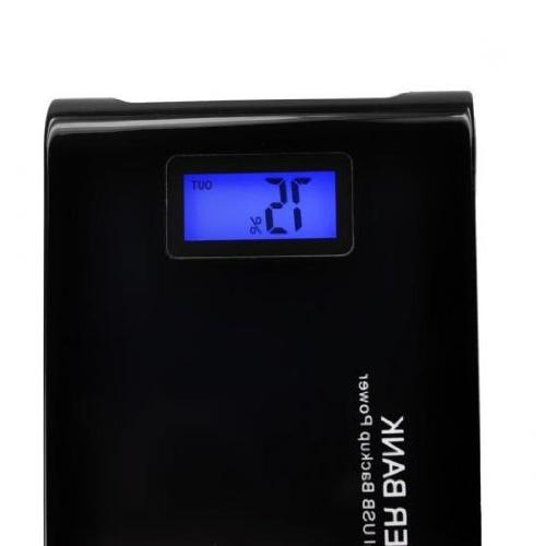12000mAh LCD Power Bank Dual Battery Charger for HTC