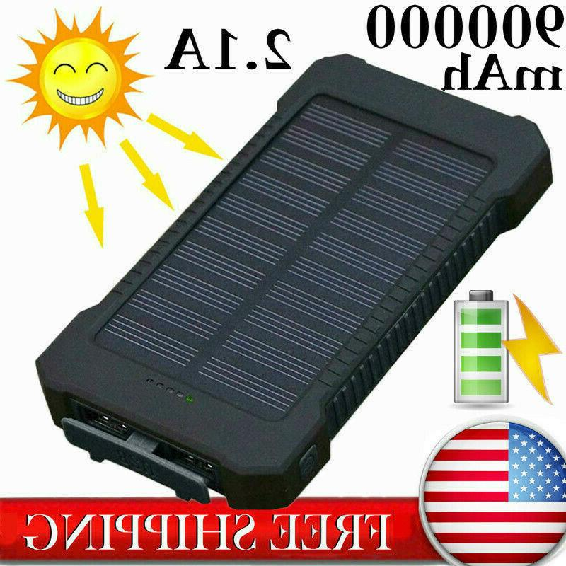 fast charging waterproof solar charger power bank