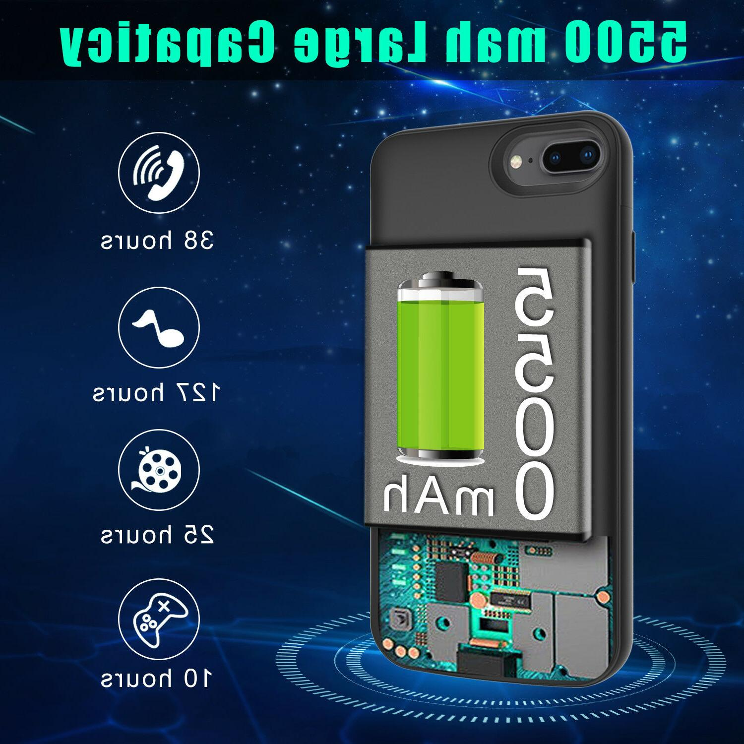 Battery Case Charger Bank Phone Cover For 7/8/6/6s US