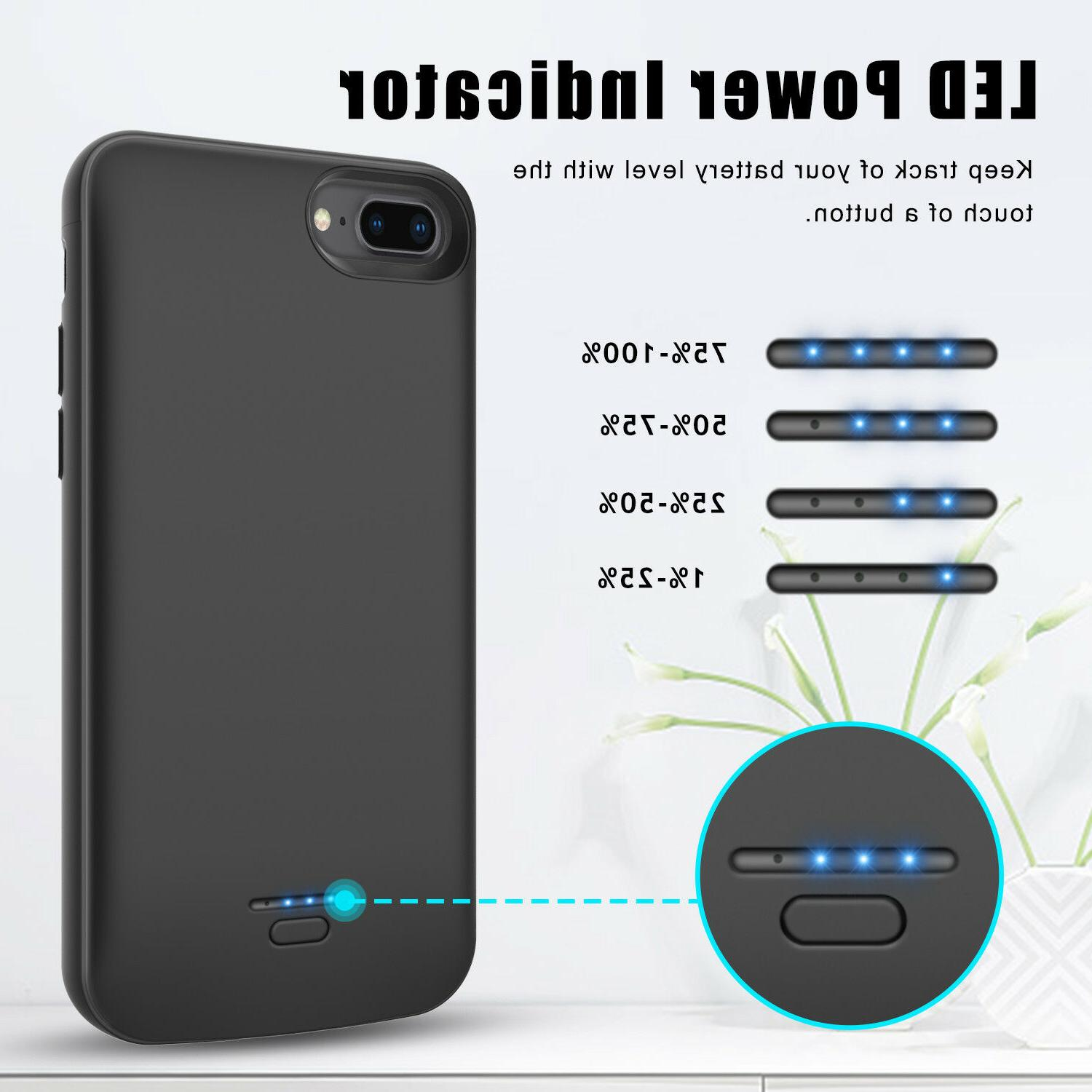 For 7 8 Battery Case Bank Charger+Screen Protector